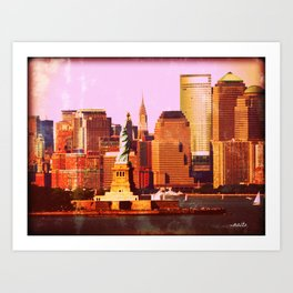 Warm NYC Art Print