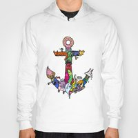 anchor Hoodies featuring anchor by ybalasiano
