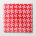 Houndstooth - Pink & Red by dizanadesigns