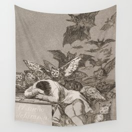 Francisco Goya The Sleep Of Reason Produces Monsters Wall Tapestry