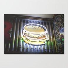 Doble Neon Cheeseburger Canvas Print