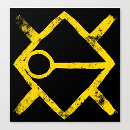 A Yellow Symbol Canvas Print