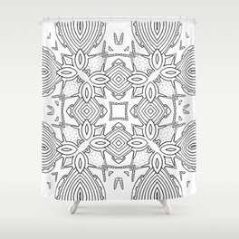 outback lines Shower Curtain