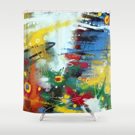 Spring glade and stars Shower Curtain