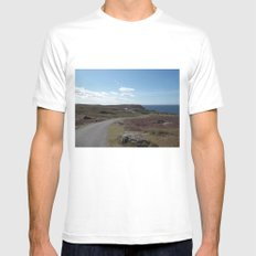 The Long Road MEDIUM White Mens Fitted Tee