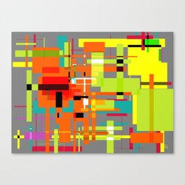Lines and Sqaures Canvas Print