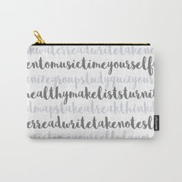 Friendly Study Reminders and Tips Carry-All Pouch