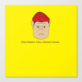 Klaus Daimler. Calm, collected, German. Canvas Print