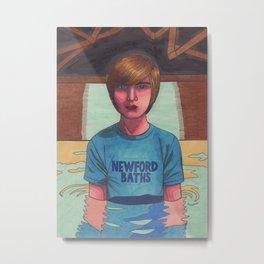 Boy in a Pool (Mike) Metal Print