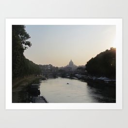 The Vatican from the Tiber River Art Print
