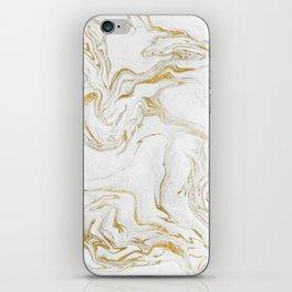 Liquid gold marble iPhone Skin