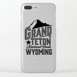 Grand Teton National Park, Wyoming Clear iPhone Case