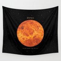 venus Wall Tapestries featuring Venus by Terry Fan