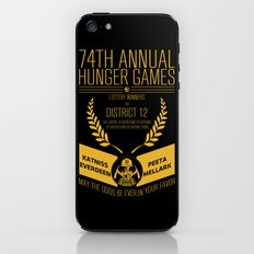 74th annual hunger games poster iPhone & iPod Skin