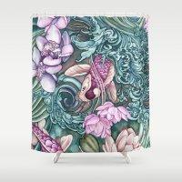 splash Shower Curtains featuring Splash by Vikki Salmela