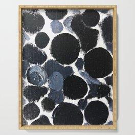 Abstract Dalmation Print Serving Tray