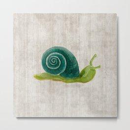 Little Snail, Snips and Snails, Little Boys, Bugs and Slugs Art, Woodland Metal Print