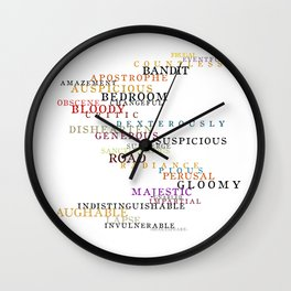 Word Inventions William Shakespeare Quote Art - Typography Wall Clock