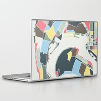 san diego Laptop & iPad Skins featuring San Diego by Studio Tesouro