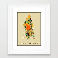 rio Framed Art Prints featuring Rio  by Nicksman