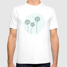 Dandelions MEDIUM Mens Fitted Tee White