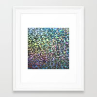 holographic Framed Art Prints featuring Holographic I by Featured Interiors