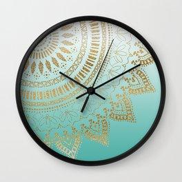 Pretty hand drawn tribal mandala elegant design Wall Clock