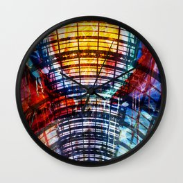 Collage Bogen color Wall Clock