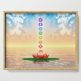 Sacred Lotus - The Seven Chakras First Edition Serving Tray