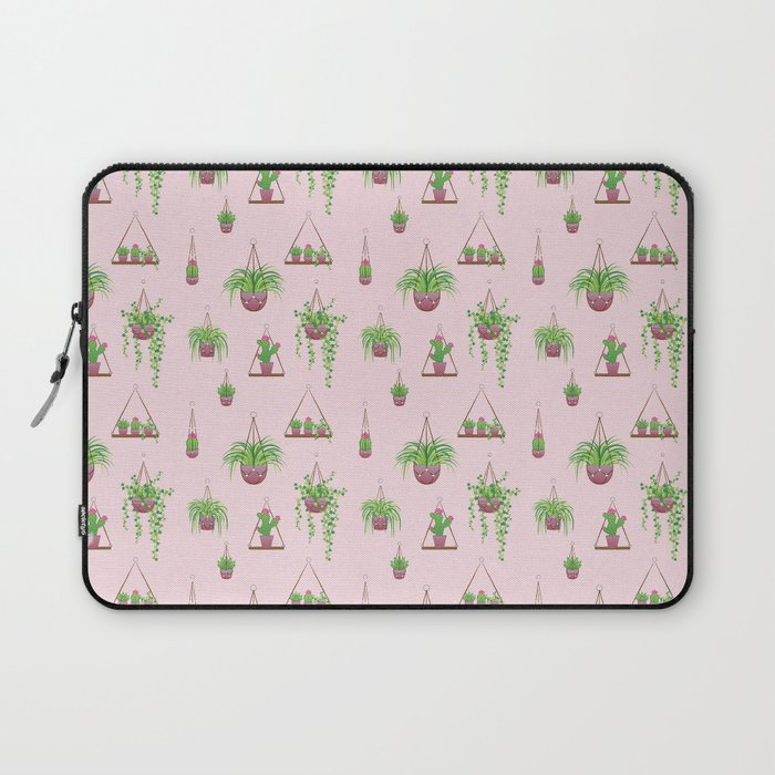 Mother, Macramé I? - Hanging Plants on Pink Laptop Sleeve