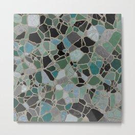Mosaic Stone Metal Print