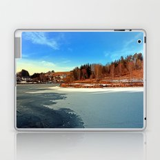 Frozen river panorama | waterscape photography Laptop & iPad Skin