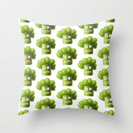 Funny Broccoli Pattern Throw Pillow