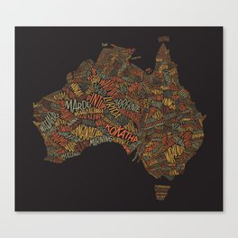Indigenous Australia Canvas Print