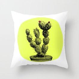 cactus vintage Throw Pillow