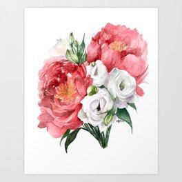 Peony Bouquet I Art Print