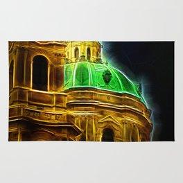 Fractal Prague Glow UV Rug