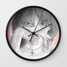 Alex closeup Wall Clock