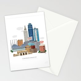 Kansas City Skyline Stationery Cards