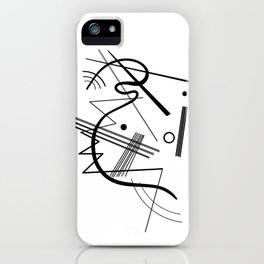 Kandindky - Black and White Abstract Art iPhone Case