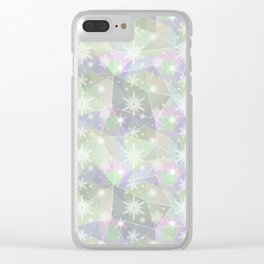 Polygon with snowflakes. Clear iPhone Case