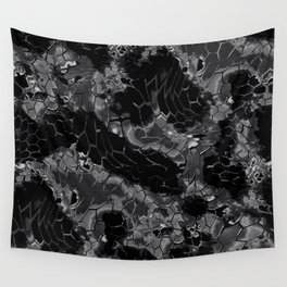 black dragon scales camouflage Wall Tapestry