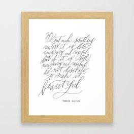 Shaker Dictum (Calligraphy) Framed Art Print