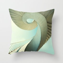 Spiral staircase in pastel tones Throw Pillow