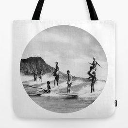 Tandem Surfing Tote Bag
