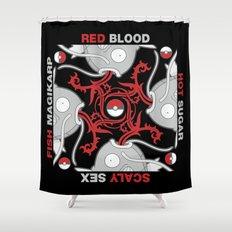 Blood Sugar Sex Magikarp - Black Variant Shower Curtain