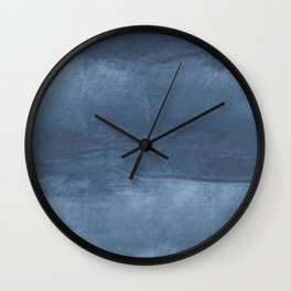 Dark blue cloud Wall Clock