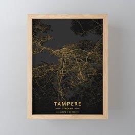 Tampere, Finland - Gold Framed Mini Art Print