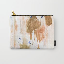 Pink and gold abstract painting Carry-All Pouch