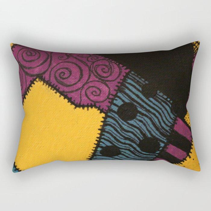 Sally's Dress Pattern - Nightmare Before Christmas Rectangular Pillow